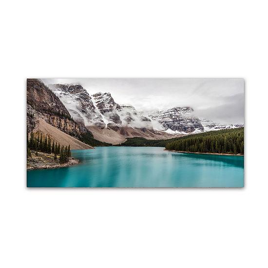 Trademark Fine Art Pierre Leclerc Moraine Lake inthe Clouds Giclee Canvas Art