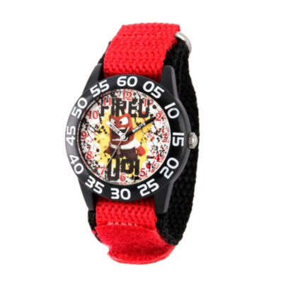 Disney Inside Out Boys Red Strap Watch-Wds000604