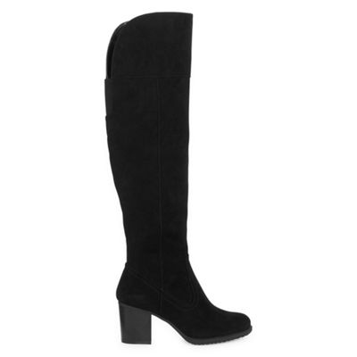 a.n.a Womens Espana Dress Block Heel Zip Boots