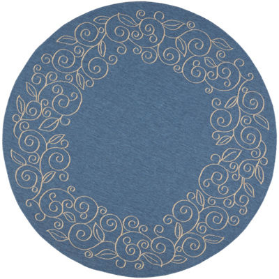 Safavieh Kiaran Floral Round Indoor/Outdoor Area Rug