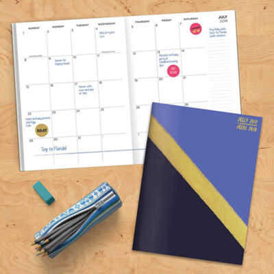 July 2018 - June 2019  Gold Monthly Planner