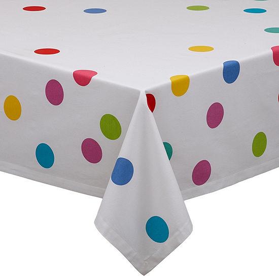 Design Imports Confetti Print Tablecloth