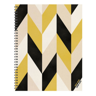 July 2018 - June 2019  Geometric Large Weekly Monthly Planner