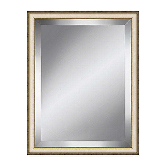 Champagne Speckled Beveled Plate Mirror