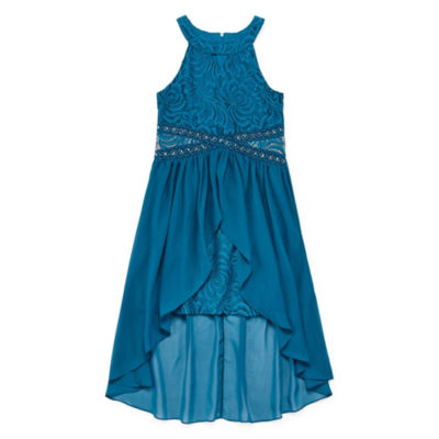 Love Jayme Embellished Sleeveless Party Dress-Big Kid Girls