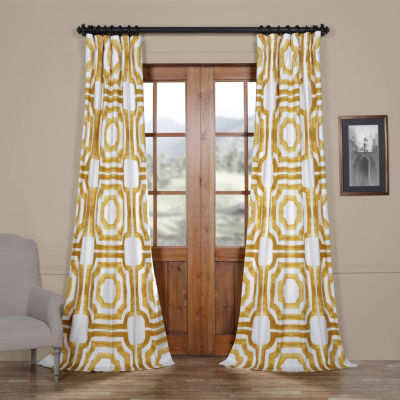 Exclusive Fabrics & Furnishing Mecca Cotton TwillRod-Pocket/Back-Tab Curtain Panel