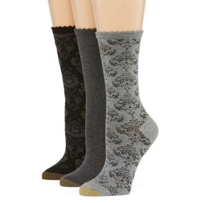 Gold Toe Vintage Collection 3 Pair Crew Socks - Womens