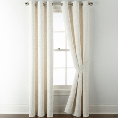 JCPenney Home Cora Grommet-Top Single Curtain Panel