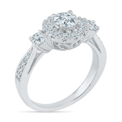 Promise My Love Womens 1 CT. T.W. White Diamond 10K White Gold Promise Ring