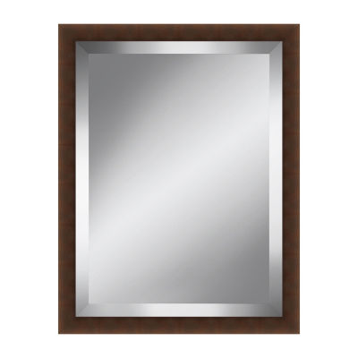Brown Beveled Plate Mirror