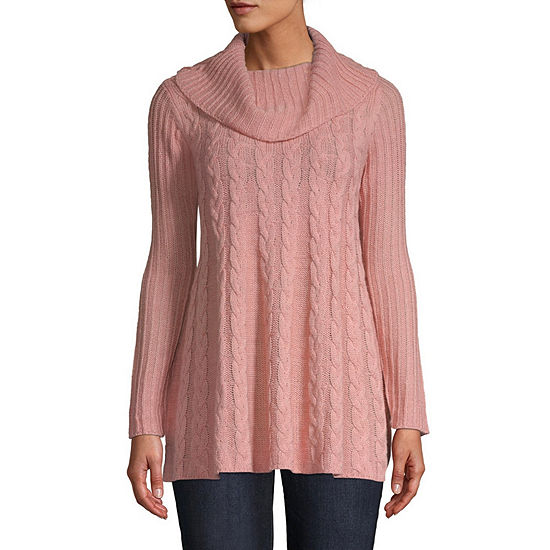 638dae7a3 St. John s Bay Womens Cowl Neck Long Sleeve Pullover Sweater - JCPenney