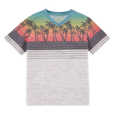 Arizona Short Sleeve V Neck T-Shirt Boys 4-20