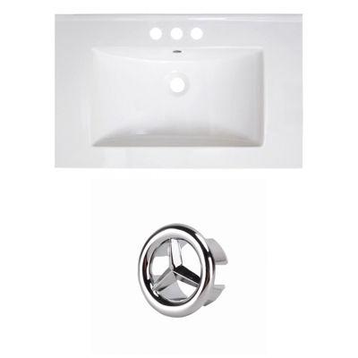 30-in. W 3H4-in. Ceramic Top Set In White Color