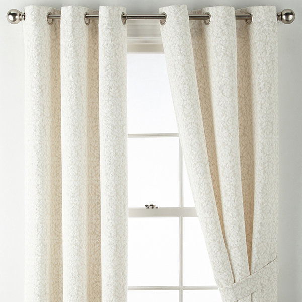 JCPenney Home Cora Grommet-Top Curtain Panel