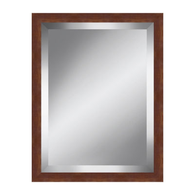 Rich Brown Beveled Plate Mirror