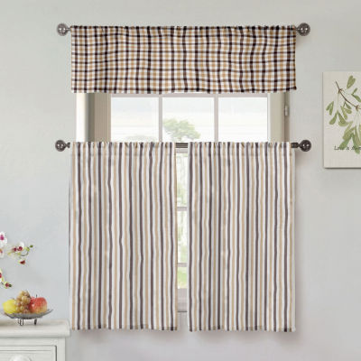Duck River Fini 3-Piece Kitchen Curtain Set