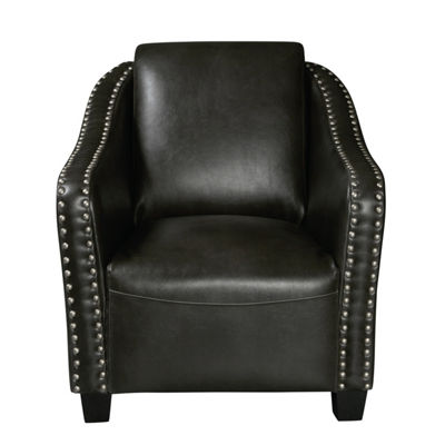 Modern Nail Head Trim Accent Club Chair