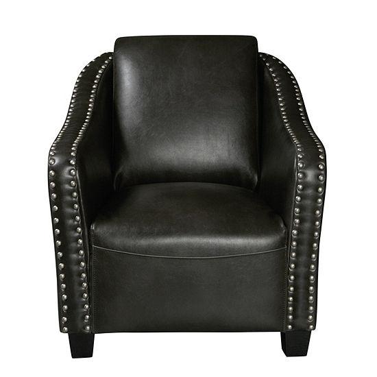 Modern Nail Head Trim Accent Club Chair