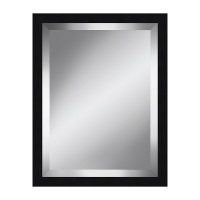 Black Grain Beveled Plate Mirror