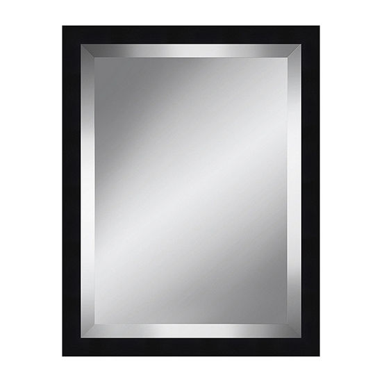 Black Grain Beveled Plate Mirror