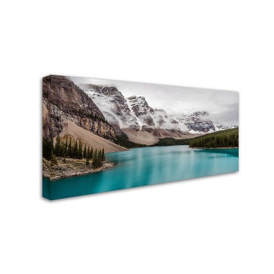 Trademark Fine Art Pierre Leclerc Moraine Lake inthe Clouds Giclee Canvas Art