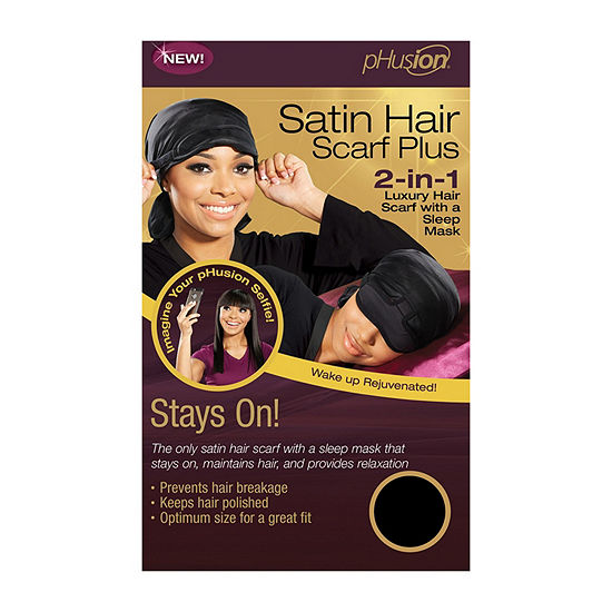 pHusion Satin Hair Scarf Plus 2-n-1 w/Sleep Mask