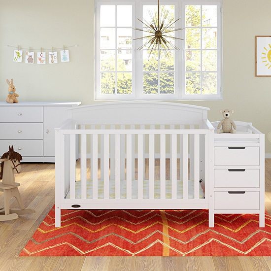 Storkcraft Benton 5 In 1 Convertible Crib And Changer White Baby