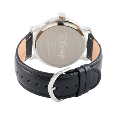 Disney Mickey Mouse Mens Black Strap Watch-Wds000606