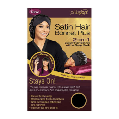 Phusion Luxury Hair Bonnet Plus Black Mc Hair Wrap