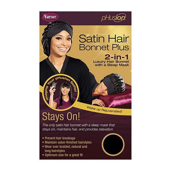 pHusion Satin Hair Bonnet Plus 2-n-1 w/Sleep Mask