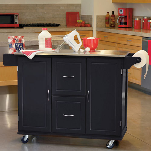 Jefferson Rolling Kitchen Cart