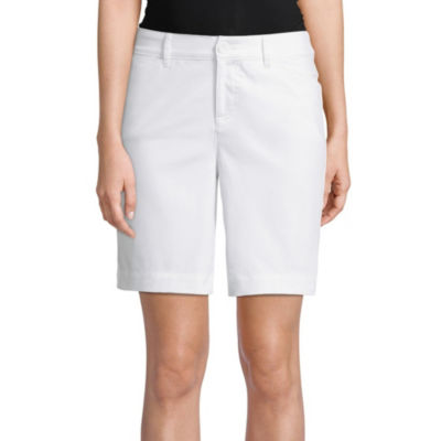 "St. John's Bay 10"" Woven Bermuda Shorts-Petite"