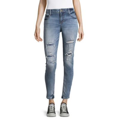 Arizona Ripped Skinny Fit Jeggings-Juniors