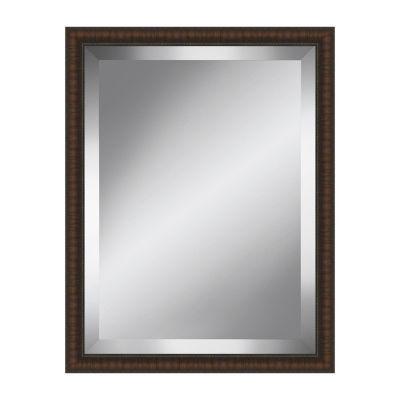Distressed Brown Beveled Plate Mirror