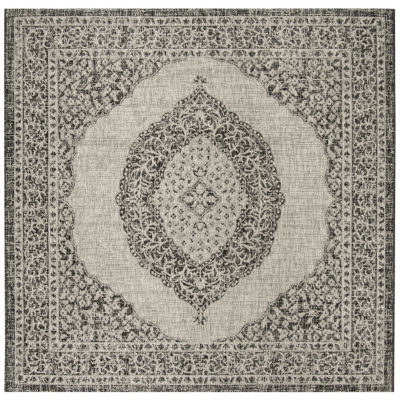 Safavieh Courtyard Collection Adria Oriental Indoor/Outdoor Square Area Rug