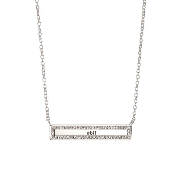 Footnotes Footnotes Womens White Brass Pendant Necklace RTsumU