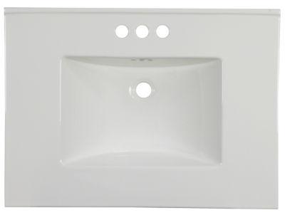 30.75-in. W 22.25-in. D Ceramic Top In White ColorFor 3H4-in. Faucet