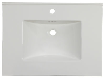 30.75-in. W 22.25-in. D Ceramic Top In White ColorFor 1 Hole Faucet