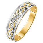 4MM Diamond Accent Genuine White Diamond 14K Gold Wedding Band