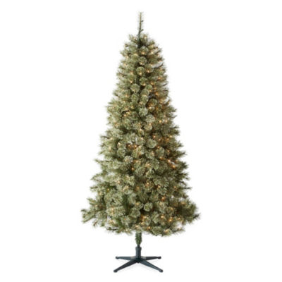 North Pole Trading Co. 7 Foot Cameron Cashmere Pre-Lit Christmas Tree