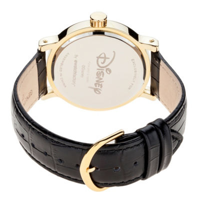 Disney Mickey Mouse Mens Black Strap Watch-Wds000607