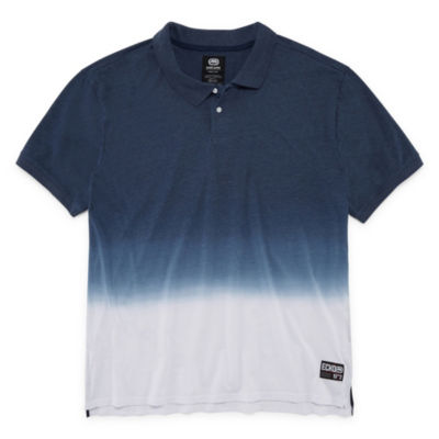 Ecko Unltd Easy Care Short Sleeve Ombre Jersey Polo Shirt Big and Tall
