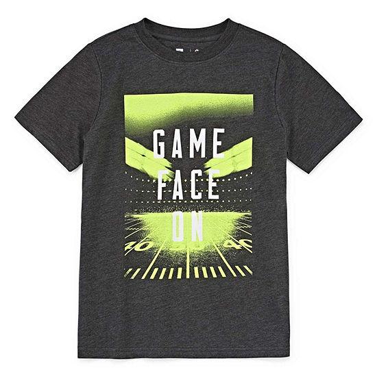 Xersion Boys Crew Neck Short Sleeve Graphic T-Shirt-Toddler