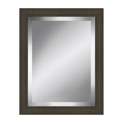 Distressed Grey Beveled Plate Mirror