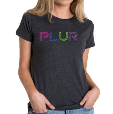 Los Angeles Pop Art Women's Premium Blend Word ArtT-shirt - PLUR