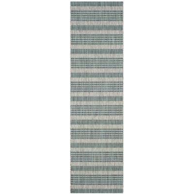 Safavieh Courtyard Collection Major Stripe Indoor/Outdoor Runner Rug
