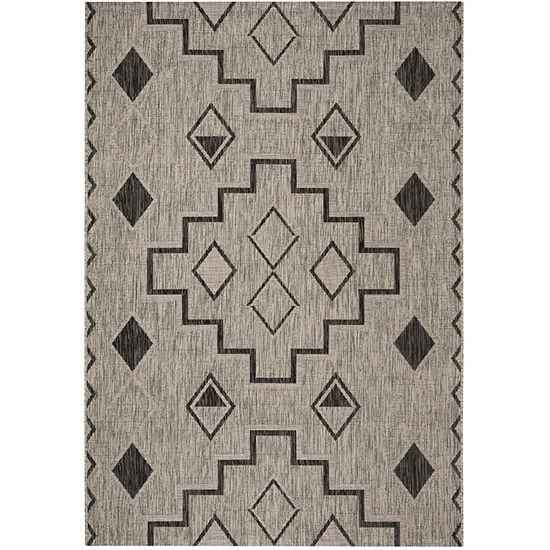 Safavieh Courtyard Collection Ambrose Geometric Indoor/Outdoor Area Rug