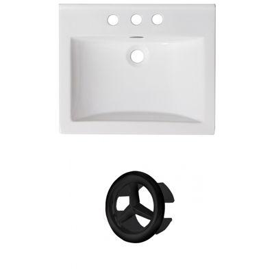 21-in. W 3H4-in. Ceramic Top Set In White Color