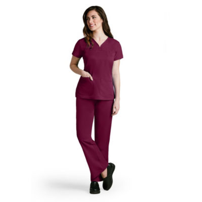 Barco™ Grey's Anatomy 41340 3 Pocket V-Neck Tonal Stitch Scrub Top - Plus