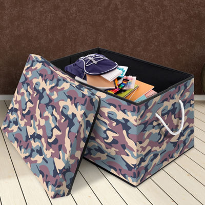Bintopia™ Storage Chest with Removable Lid - Green Multi/Black Trim